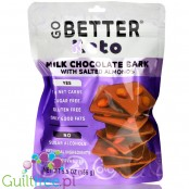 Go Better Keto Bark, Milk Chocolate with Salted Almonds 5.5 oz