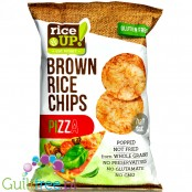 RiceUp thin Pizza flavored whole-grain thin brown rice chips
