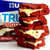 USN Trust Protein Cookie Red Velvet Cake - 20g protein, no added sugar cookie with white chocolate filling
