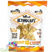 BeyondChipz Tortillas High Protein Tortilla Chips, Bedda Chedda 5.3 oz