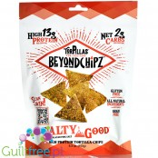 BeyondChipz Tortillas High Protein Tortilla Chips, Salty Good 5.3 oz