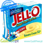 Jell-O low fat sugar free pudding, Banana flavor