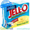 Jell-O Banana Cream low fat sugar free pudding, Banana flavor