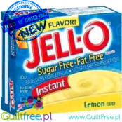 Jell-O Lemon low fat sugar free pudding, Lemon flavor