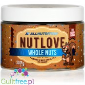 NutLove WholeNuts - almond covered with no added sugar white chocolate & cinnamon
