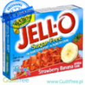 Jell-O Strawberry & Banana low fat sugar free jelly, Strawberry & Banana flavor