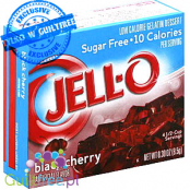 Jell-O low-calorie gelatin dessert black cherry flavor - low-calorie jelly without sugar with cherry flavor
