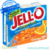 Jell-O Orange low fat sugar free jelly, Orange flavor