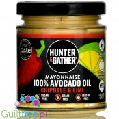 Hunter & Gather Chipotle Avocado Mayo - pikantny keto majonez z awokado, 4 składnikowy