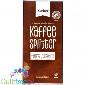 Xucker Kaffe Splitter - vegan dark chocolate with roasted coffee beans, sweetened only with xylit