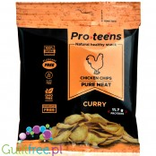 ProTeens Chicken Chips Curry - chicken breast crisps 78% protein