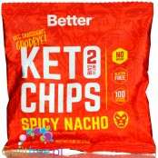 Real Ketones, Better Keto Chips, Spicy Nacho - chipsy z cheddarem i z MCT