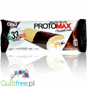 Protein cake with vanilla-lemon flavor, with a reduced carbohydrate content with natural aromas