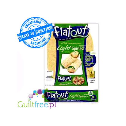 Flatout bread Light Garden Spinach wraps made of 100% Stone Ground Whole Wheat