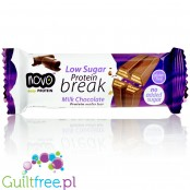 Novo Protein Break Bar - 3 Pak, no added sugar waffer filled with cream and enrobed with chocolate