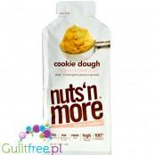 Nuts n More Cookie Dough Peanut Spread with Xylitol & WPI, squeeze tub