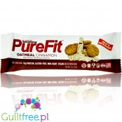 Pure Fit Oatmeal Cinnamon Bar vegan gluten free protein bar with no sweeteners