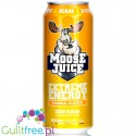 Muscle Moose Juice Tropical, berry flavor carbonated energy drink with BCAA and B vitamins with sweeteners - Low-calorie
