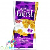 Specialty Cheese Just The Cheese Chips Minis, Wisconsin Cheddar, 1/2 oz bags