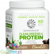 Sunwarrior Clean Greens & Protein (175g) Chocolate