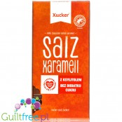 Xucker Milk Chocolate Salted Caramel without sugar added with salted caramel slices