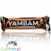 Yamba 33% High Protein Chocolate Crunchy Caramel, protein bar with milk chocolate coating - high-protein bar coated with milk ch