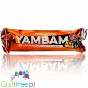 YamBam 33% High Protein Peanut Butter Caramel, protein bar with milk chocolate coating - Milk protein bar with chocolate filling