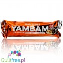 YamBam 33% High Protein Peanut Butter Caramel, protein bar with milk chocolate coating - Milk protein bar