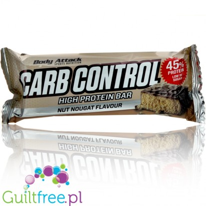 Body Attack Carb Cotrol Nut Nougat Flavor