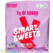 Smart Sweets Red Twists, Berry Punch 50g (1.8 oz)