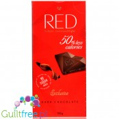 RED Chocolette no sugar added dark chocolate, 50% less calories