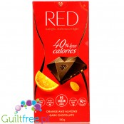 RED Chocolette no sugar added dark chocolate with almonds, 45% less calories