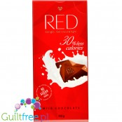 RED Chocolette no sugar added milk chocolate 30% less calories