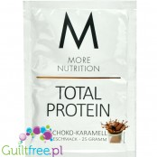 More Nutrition Total Protein Chocolate Caramel - thick casein protein for desserts, sachet 25g