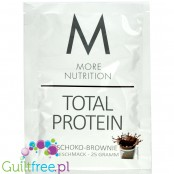 More Nutrition Total Protein Chocolate Brownie - thick casein protein for desserts, sachet 25g