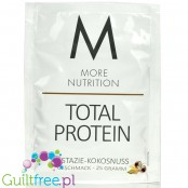 More Nutrition Total Protein Pistachio & Coconut - thick casein protein for desserts, sachet 25g