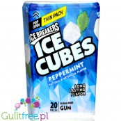 Ice Breakers Ice Cubes Cool Peppermint, guma do żucia bez cukru Thin Pack