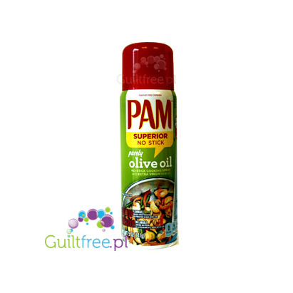 PAM Superior Non Stick Purely Olive Oil - Spray with extra virgin olive oil for frying;