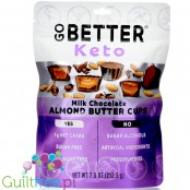 Go Better Keto Cups, Milk Chocolate Almond Butter