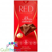 RED Chocolette no sugar added milk chocolate withprline filling, 35% less calories