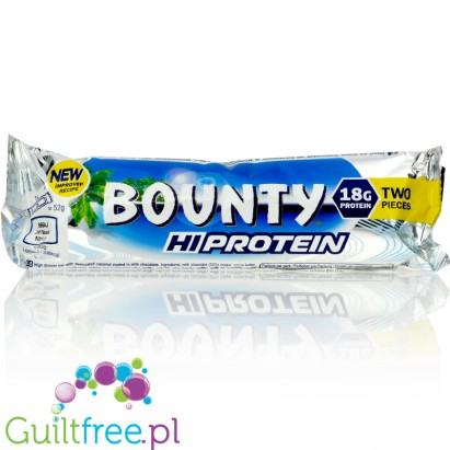 Bounty Protein and Coconut Milk Bounty with Coconut and Coated Chocolate