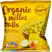 Biopont extruded millet crisps, Cheese & Onion