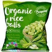 Biopont extruded rice crisps, Spinach & Leek