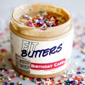 Fit Butters Birthday Cake Almond Butter 454g