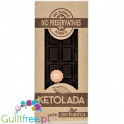 Ketolate handcrafted dark chocolate without lecithin