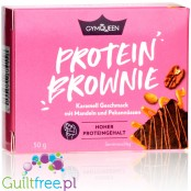 GymQueen Protein Caramel Brownie with almonds and pecans
