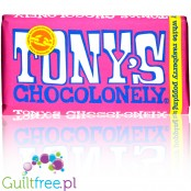 Tony's Chocolonely Fairtrade White Raspberry Popping Candy 180g
