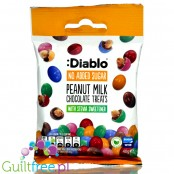 Diablo Peanut Milk Chocolate Treats - nuts in glazed chocolate without added sugar with stevia