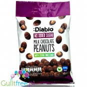 Diablo Milk Chocolate Peanut - nuts in chocolate without added sugar with stevia