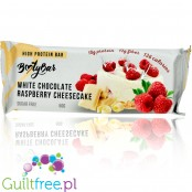 Booty Bar White Chocolate Cheesecake & Raspberry - protein bar 17g of protein & 142kcal